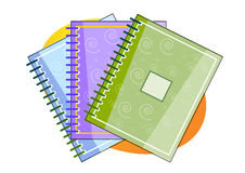 Note pad illustration Stock Images