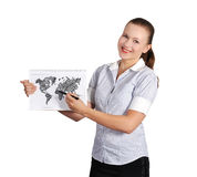 Note pad with map Royalty Free Stock Photography