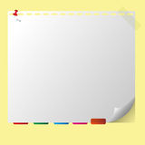 Note pad memory. And bookmark Royalty Free Stock Image