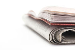 Note pad and newspaper. Royalty Free Stock Images