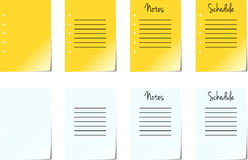 Note Pad Pages. On White Background Royalty Free Stock Photography
