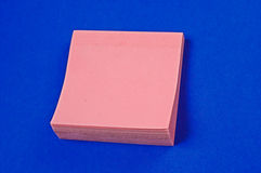 Note pad paper Royalty Free Stock Image