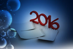2016 note pad papers Royalty Free Stock Photography