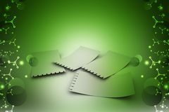 Note pad papers. In color background Stock Image