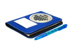 Note pad with pen Stock Photography