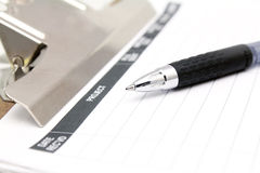 Note pad and pen Stock Photos