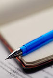 Note pad and pen. Closeup note pad and pen Royalty Free Stock Photos
