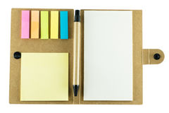 Note pad with pen on white background Royalty Free Stock Photo