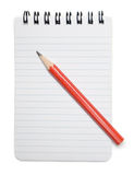 Note Pad and Pencil Royalty Free Stock Photography