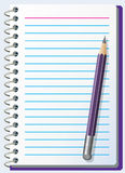 Note pad with pencil Stock Image