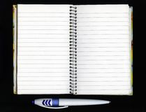 Note pad and pencil Royalty Free Stock Image