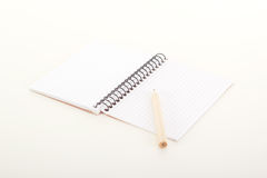 Note pad with pencil Stock Photography
