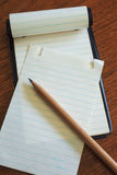 Note Pad with Pencil 2 Royalty Free Stock Photo