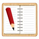 Note pad and pencil Royalty Free Stock Images