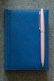Note Pad and  Pink Pen. A series of photos with stationery items Royalty Free Stock Photography
