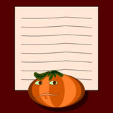 Note pad - pumpkin Stock Photos
