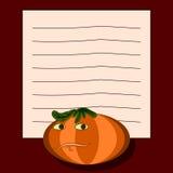 Note pad - pumpkin stock photos