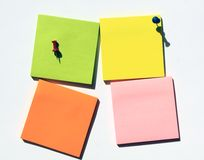 Note pad with push pin. Empty note pad with push pin Stock Image