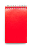 Note Pad Red. Closed Red Note Pad Isolated on White Background Royalty Free Stock Photography