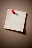 Note pad reminder on wall Royalty Free Stock Photo