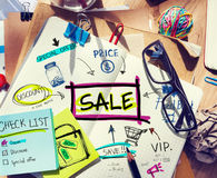 Note Pad with Sale Concepts Stock Photography