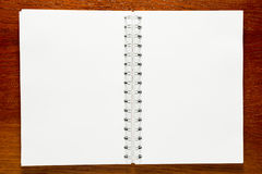 Note pad with spiral close-up. View from above Stock Image