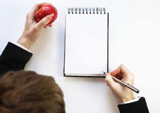 Note pad on a white background. Royalty Free Stock Photo