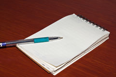 The note pad Stock Images