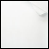 Note page with curled edge. Close up of paper page with a curled edge royalty free stock image