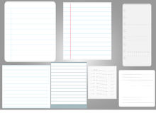 Note page paper 7 style Royalty Free Stock Images