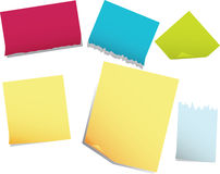 Note pages. Stickers of note pages. The vector illustration Royalty Free Stock Photos