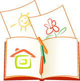 Note pages symbol Stock Images
