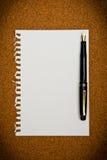 Note paper. On cork board Stock Photo
