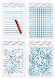 Note paper,. Note paper with regular and chaotic lines Stock Photography