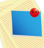 Note paper. The memo sheet on paper background Royalty Free Stock Image