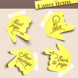 Note paper. Vector illustration note paper. Message label Royalty Free Stock Photos