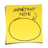 Note paper Royalty Free Stock Photography