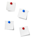 Note paper. Close up of reminder on white background refrigerator Royalty Free Stock Photos