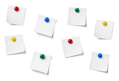 Note paper. Close up of reminder on white background refrigerator royalty free stock photo