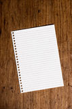 Note paper. Note paper on wooden table Stock Image