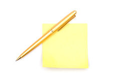 Note Paper And Pen Royalty Free Stock Photos