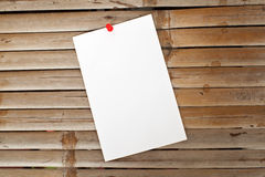 Note paper on bamboo background Stock Photography