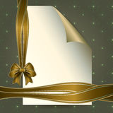 Note paper and beautiful bow for your message Stock Image