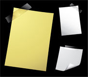 Note Paper on Black Stock Photography