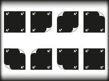 Note paper. Black and white note paper Royalty Free Stock Photo