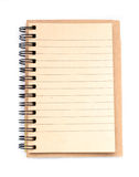 Note paper. Book isolated on white background Stock Image