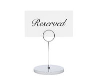 Note Paper Card Holder With Reserved Sign Royalty Free Stock Image