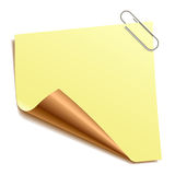 Note with paper-clip Stock Images