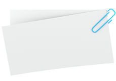 Note with paper clip Stock Photography