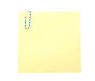 Note with paper-clip Royalty Free Stock Images
